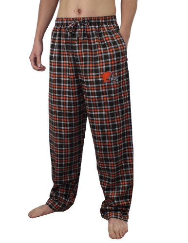 NFL Cleveland Browns Mens Fall / Winter Plaid Pajama Pants L Multicolor at Amazon.com