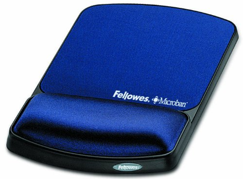 Fellowes Gel Wrist Support And Mouse Pad with Microban Protection, Sapphire (9175401) (Microban Mouse Pad compare prices)