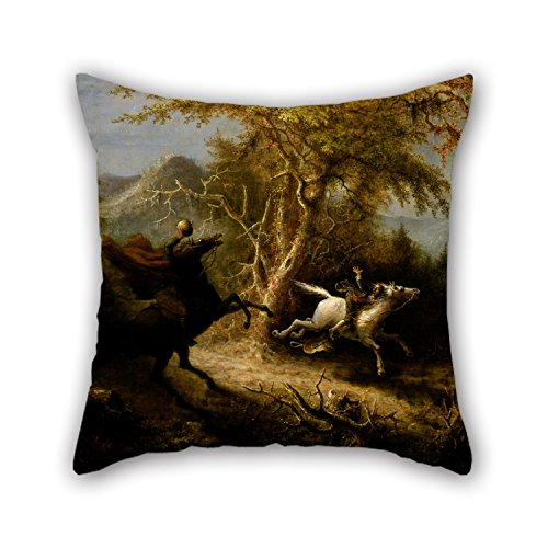 Uloveme Oil Painting John Quidor - The Headless Horseman Pursuing Ichabod Crane Cushion Covers 20 X 20 Inches / 50