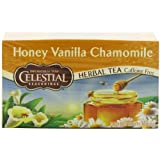 Celestial Seasonings Herb Tea, Honey Vanilla Chamomile, 20-Count Tea Bags (Pack of 6)
