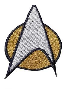 "Star Trek the Next Generation Communicator Symbol 2 3/4"" Tall Embroidered Patch"