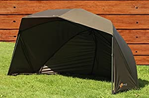"""Cyprinus V3 Fishing 60"""" Oval Brolly, Umbrella, Day Shelter Carp Coarse Bivvy with ground sheet and carry bag 100% waterproof with its 5000 Hydrostatic head Same as Trakker Fox Wychwood Chub JRC Saber"""