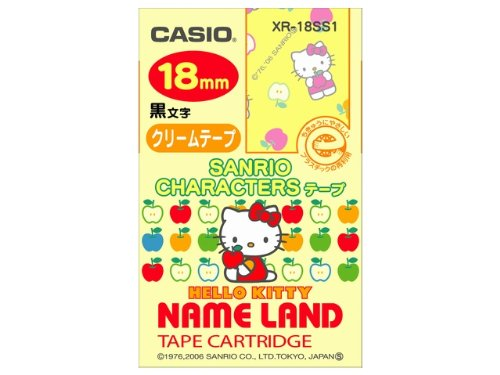 CASIO Casio newsland tape 18 mm XR-18SS1 Hello Kitty (Apple)