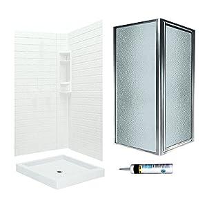 Swanstone VCP3636010 SD36CO Veritek Tiled Corner Shower Kit 36 Inch X 72 Inch