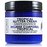 Carapex Tropical Butter Cream, Non Greasy Hand Cream, Body Cream for Cracked Hands, Super Dry Skin with Natural Shea Butter, Cocoa Butter, Vitamin E, Green Tea Extract, Fragrance Free, Paraben Free, 4oz