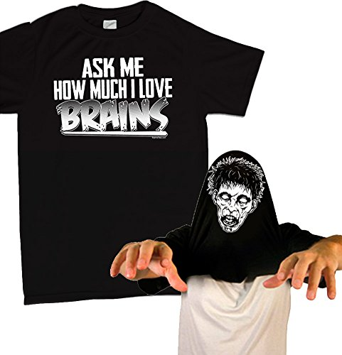 Ask Me How Much I Love Brains Zombie Costume T-Shirt