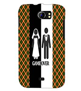 PrintDhaba Couple D-3991 Back Case Cover for MICROMAX A110Q CANVAS 2 PLUS (Multi-Coloured)