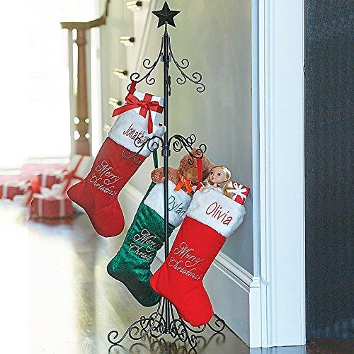 Christmas Stocking Holder Stand.Tall Metal Christmas Stocking Holder Stand Import It All