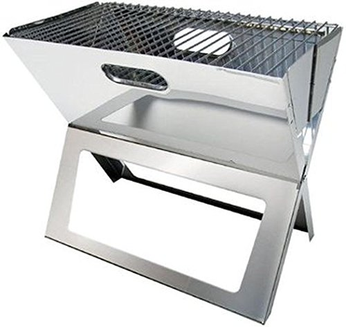 HOLZKOHLEGRILL – STABIELO – FALTBARER EASY – LARGE – Edelstahl Tisch-Kohle-Grill – VERTRIEB durch – Holly ® Produkte STABIELO ® – holly-sunshade ® – patentierte Innovationen im Bereich mobiler universeller Sonnenschutz – Made in Germany – online kaufen