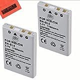 BM Premium Pack of 2 EN-EL5 Batteries for Nikon Coolpix P80 P90 P100 P500 P510 P520 P530 Digital Camera + More!!