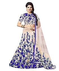 1 Stop Fashion White & Blue Party Wear Lehenga Choli-SO60000