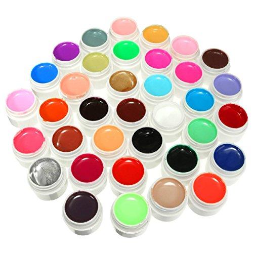 DANCINGNAIL 36 Colori 36 Pentole Solid Mix Pure UV Gel Smalto per Unghie Costruttore Manicure Arte Chiodo Capovolge Set Decoration Tool Kit