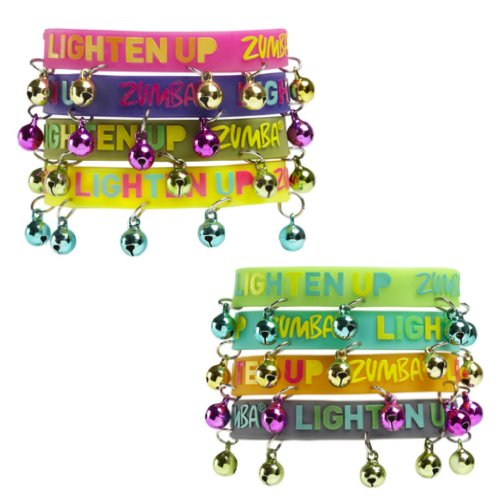 Zumba Fitness Lighten Up Rubber Bracelets  Bells