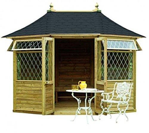 georgian breite gartenlaube gro gartenhaus aus holz. Black Bedroom Furniture Sets. Home Design Ideas