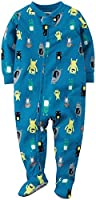 Carter's Little Boys' Print Footie (Toddler) - Monsters - 5T