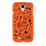 HSD Ultra Slim Fit Cartoon Pattern Plastic Hard Case for Samsung Galaxy S4 SIV I9500 / I9505 / SGH-i337 (Orange)