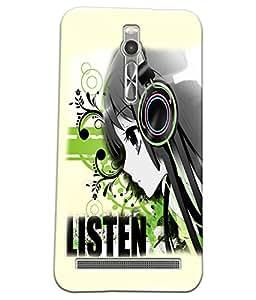 Fuson Music Girl Back Case Cover for ASUS ZENFONE 2 - D3724