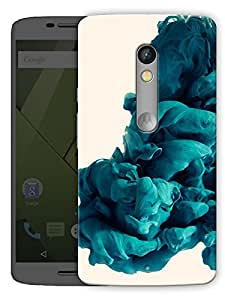 """Blue Smoke Printed Designer Mobile Back Cover For """"Motorola Moto X Play"""" By Humor Gang (3D, Matte Finish, Premium Quality, Protective Snap On Slim Hard Phone Case, Multi Color)"""