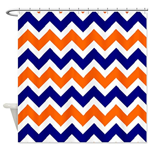 orange chevron shower curtain.  Orange Blue Chevron Shower Curtain Best