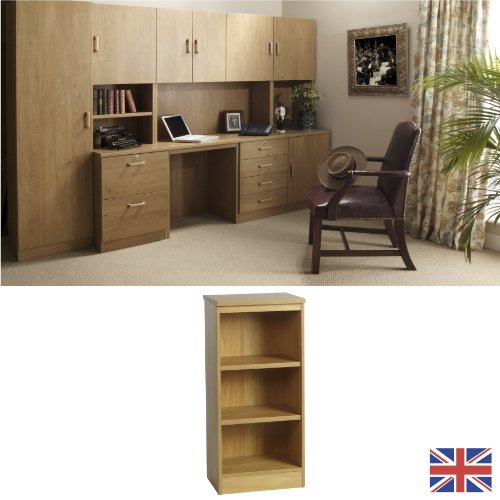 Home Office Furniture - Fully Assembled - Bookcase - English Oak - Wood Effect... FOR USE IN: study bedroom lounge conservatory WE ALSO MAKE: cupboard plan chest hideaway desk draw drawers table free standing computer unit skirting clearance
