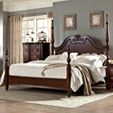 Homelegance Guilford Short Poster Bed in Brown Cherry Queen