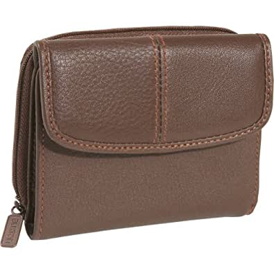 Buxton SoHo Zipper French Purse - Brown