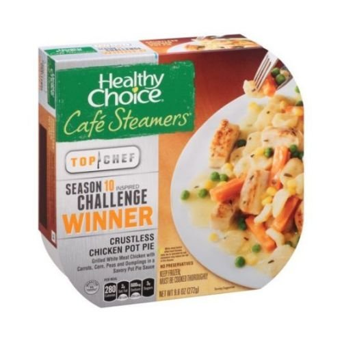 Healthy Choice Cafe Steamers Top Chef Crustless Chicken Pot Pie, 9.6 Ounce -- 8 per case. (Pot Pie Sauce compare prices)