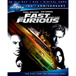 The Fast and the Furious [Blu-ray + DVD + Digital Copy] (Universal's 100th Anniversary)