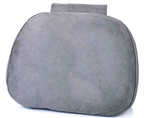 Softest Auto Car Neck Pillow - Plush Headrest Support Cushion for Pain Relief - Silver (Auto Headrest Pillow compare prices)
