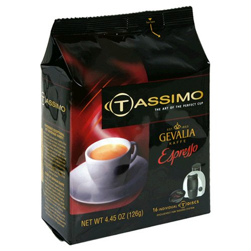 gevalia espresso t discs for tassimo hot beverage system 16 count packages pack of 2. Black Bedroom Furniture Sets. Home Design Ideas