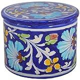 Shiv Kripa Blue Pottery Ceramic Decorative Box (6 Cm X 8 Cm X 12 Cm, BP63)