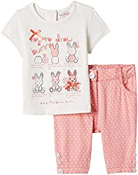 Nauti Nati Baby Girls Jumper and Knitted Top (NSS15-287_Ecru_6 - 12 months)