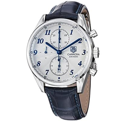 Tag Heuer Men's CAS2111.FC6292 Carrera Heritage Silver Dial Dress Watch by Tag Heuer