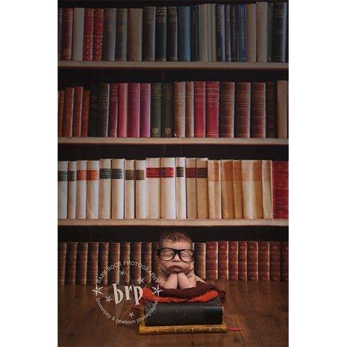 Printed Photography Background Bookshelf Baby Rock Collection Titanium Cloth TC297 5'x6' Ft (60