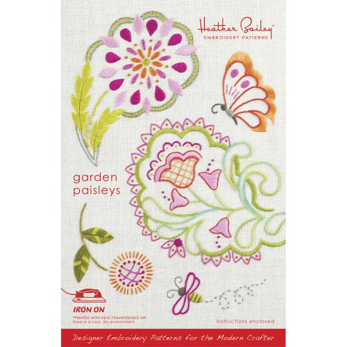 Heather Bailey Embroidery Pattern, Garden Paisleys