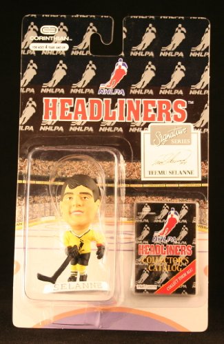 TEEMU SELANNE / NHLPA SIGNATURE SERIES * 3 INCH * 1996 NHL Headliners Hockey Collector Figure - 1