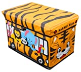 Global Decor Toy-Stor Kid Decor Children's Storage Container/Stool, Safari Truck