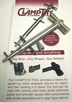 """ClampTite the """"Clamp Making Tool"""" CLT01 Stainless Steel With Bronze Bar Nut"""