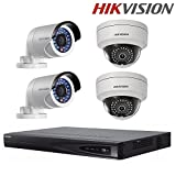Hikvision Security Camera Systems DS-7608NI-E2/8P Embedded Plug & Play NVR + DS-2CD2042WD-I 4MP IR Bullet Network Camera + DS-2CD2142FWD-IS 4MP Dome Camera + Seagate 2TB HDD (8 Channel + 4 Camera)