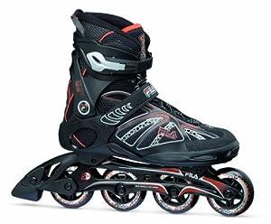Fila Herren Inline Skate Primo ALU, Schwarz/Rot, 7.5, 010614112
