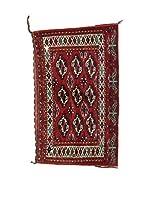 L'EDEN DEL TAPPETO Alfombra Bukara.Afgan Rojo/Multicolor 75 x 123 cm