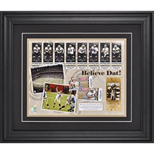New Orleans Saints Believe Dat 2009 Season in Review Framed 11x14 Photograph