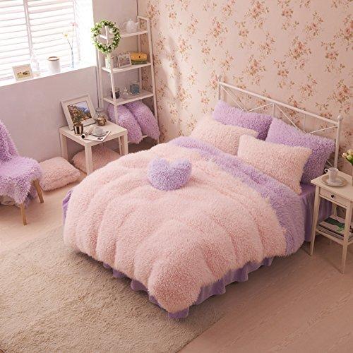 Pink And Purple Duvet Cover Set Princess Bedding Girls Bedding Women Bedding Gift Idea, Twin Size