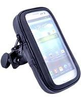 VicTsing Support avec étui étanche pour portable à monter sur un guidon de vélo/moto Compatible avec iPhone.Samsung Galaxy S4/S3/HTC One/M7/Nokia/Blackberry