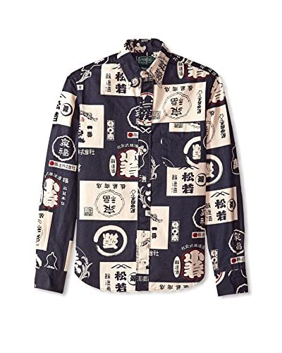 Gitman Vintage Men's Allover Print Button Down Shirt