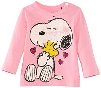 ESPRIT Baby Girls 123EEAK005 Short Sleeve T-Shirt, Potpourri Pink, 9-12 Months (Manufacturer Size:74 cm)