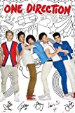 Set: One Direction, 1D Take Me Home, Cartoon Poster (36x24 inches) + 1x free 1art1 ® Collection Poster