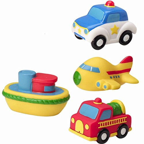 Baby-Bath-Time-Fun-Rubber-Water-Squirties-Toy-Vehicle-Style-Bath-toys