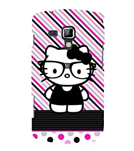 Kity Cute Funny 3D Hard Polycarbonate Designer Back Case Cover for Samsung Galaxy S Duos 2 S7582