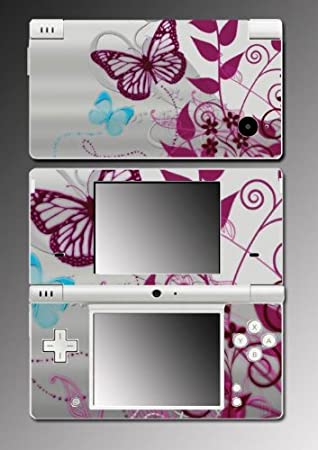 Butterfly Flowers Art Game Vinyl Decal Cover Skin Protector #55 for Nintendo DSi